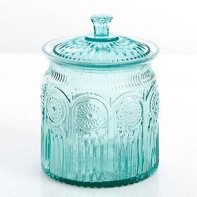 The Pioneer Woman Adeline Glass Cookie Jar Turquoise