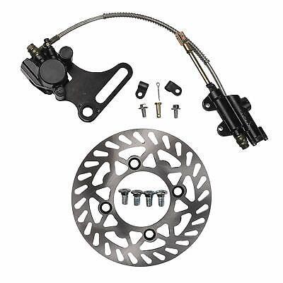 Rear Hydraulic Disc Brake Caliper Master Cylinder + Disc Rotor for dirt pit bike