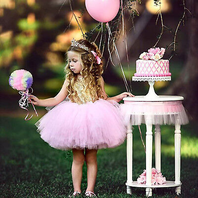 Princess Baby Girl Toddler Party Tutu Dress Pageant Wedding Birthday Gown - Girls Party Gowns