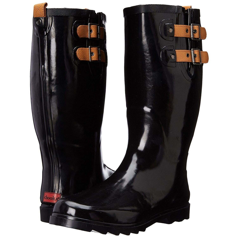 Chooka Women's Top Solid Rain Boots - Black - Sizes 6 7 8 9