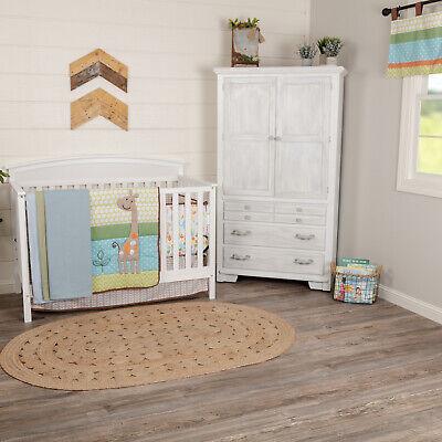 VHC Farmhouse Crib Bedding Set Boy Girl Baby Quilt Sheet Skirt Bumper Valance