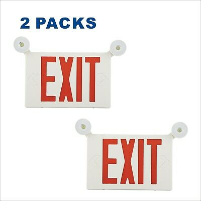 2 Pack Satey Signs Led Emergency Lighting Combo Exit Signs Emergency Lights Set
