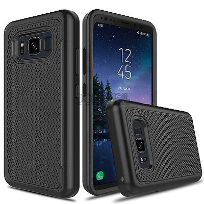 For Samsung Galaxy S8 Active/SM-G892A Rugged Shockproof Hybrid Rubber Case Cover