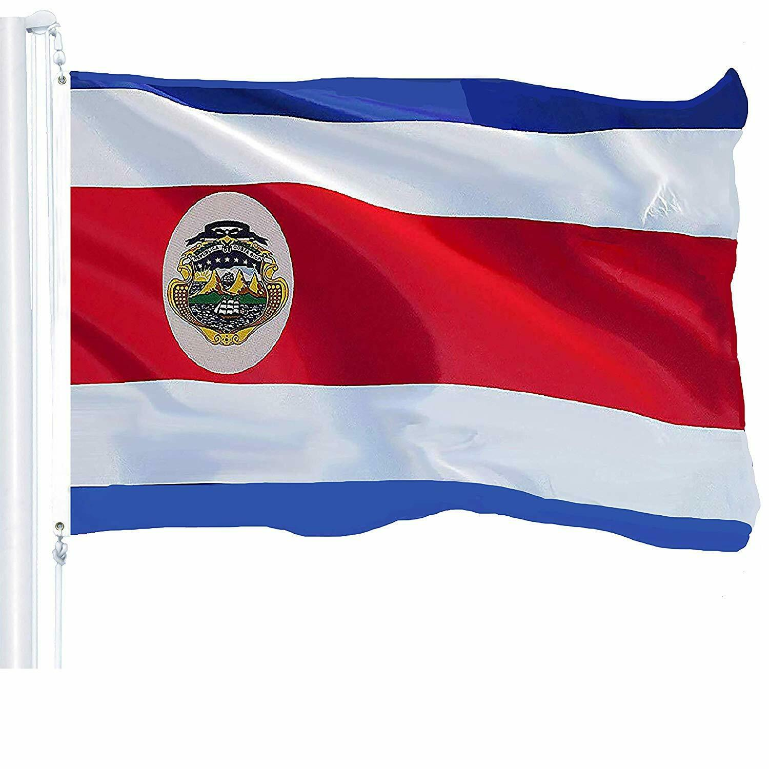 G128 - 3x5ft Costa Rica flag Rican Banner Grommets 150D Poly