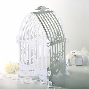 White Birdcage Wedding Card Holder, Beautiful and Unique Wedding accessory