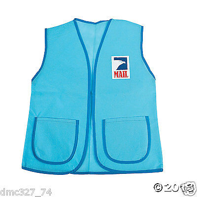 1 MAIL PERSON Carrier Play DRESS UP Accessory Pretend MAILMAN VEST