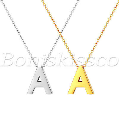 A-Z Alphabet Initial Letter Necklace Polish Charm Pendant For Birthday Valentine