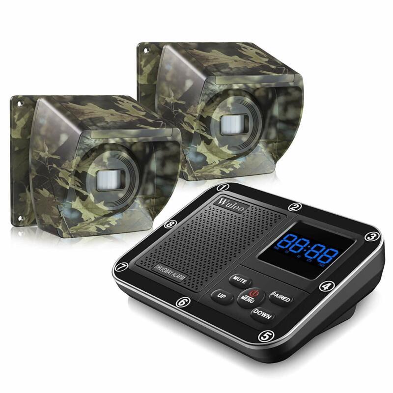 Wireless Driveway Alarm Alert System 1/3 Mile Long Range Rechargeable Sensors