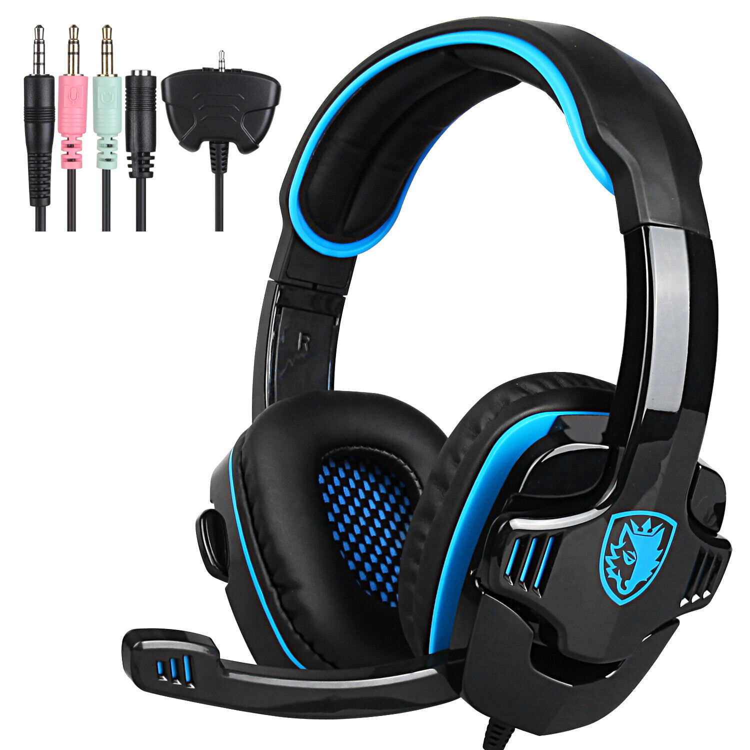 SADES 708GT Stereo Bass Surround Gaming Headset for PS4 New