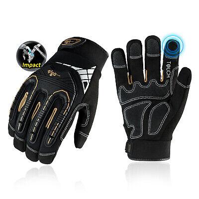 Vgo 1pair Heavy Duty Impact-absorb Work Gloves Rigger Gloves For Mensl8849