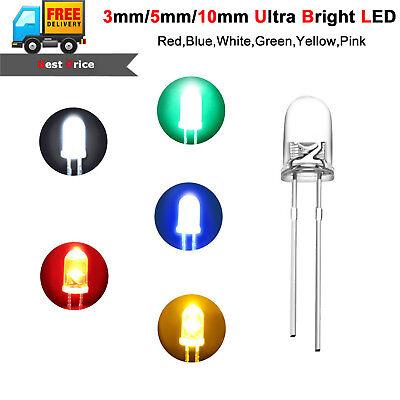 Ultra Bright Leds 3mm 5mm 10mm Redbluewhiteyellowgreenpinkuvwarm White 50