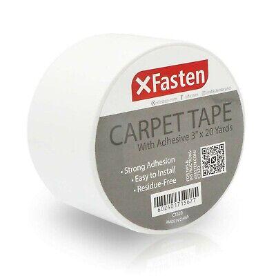 Xfasten Carpet Tape 3 Inches X 20 Yards