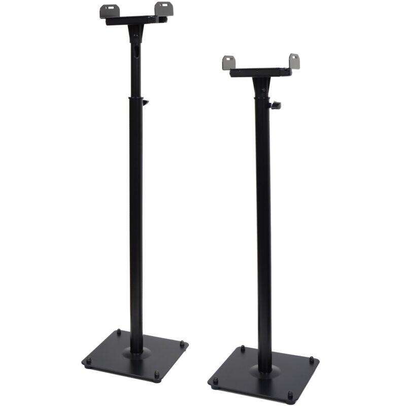 2 x Heavy Duty Side Clamp Speaker Mount Stand Surround Sound Bookshelf Floor M99