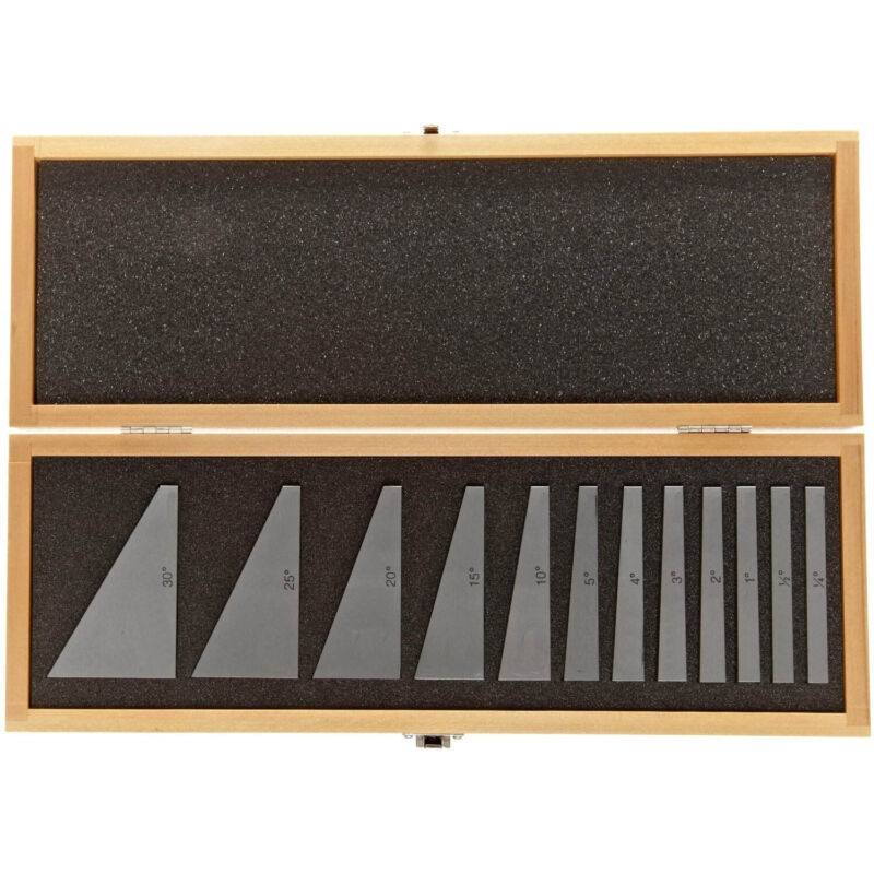 HFS(R) 12 Pcs Precision Angle Block Set 1/4,1/2,1 To 5 & 5 To 30 Degree