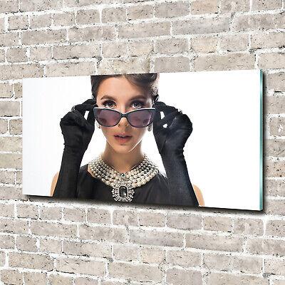 Acrylglas-Bild Wandbilder Druck 140x70 Deko Menschen Frau mit Brille