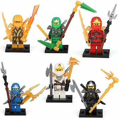 6 Lego Custom ZX + Armor Ninjago Minifigs figures ninja Cole Jay Kai Zane Lloy
