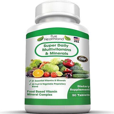 Super Daily Multivitamin Supplement for Men, Women and Seniors Over 50. Best
