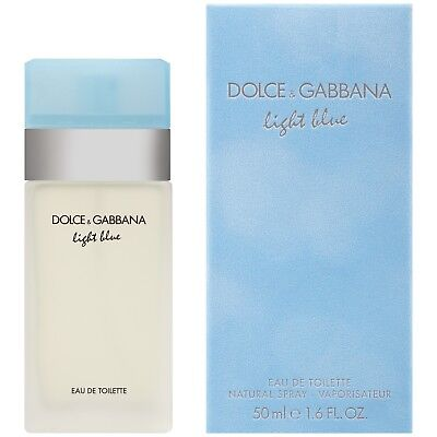 NIB Sealed Pack Light Blue By Dolce & Gabbana Eau De Toilette Spray 1.6 oz Women
