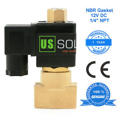 U.s. Solid 14 Brass Electric Solenoid Valve 12v Dc Normally Open Air Water Oil