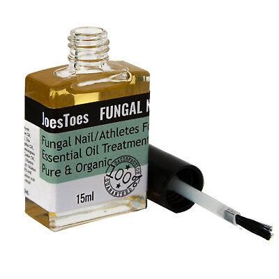 STOP FUNGUS Toe Finger Nail Anti Fungal Bacterial Treatment Oil JoesToes 15ml