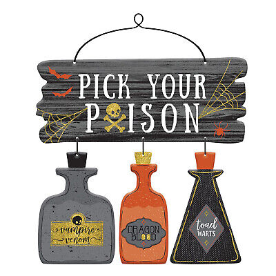 Pick Your Poison Halloween Party (Pick Your Poison Hanging MDF Party)