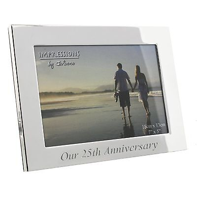 Our 25th Silver Wedding Anniversary Silverplated Photo Frame Gift Box 7 x 5