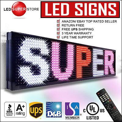 Led Super Store 3colrwpir 12x41 Programmable Scrolling Emc Display Msg Sign