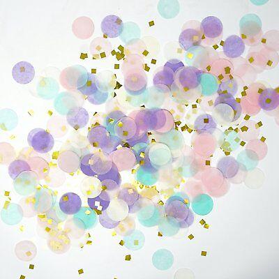 Unicorn Pastel Gold Foil Shredded Confetti Paper Glitter Party Decoration - Paper Confetti