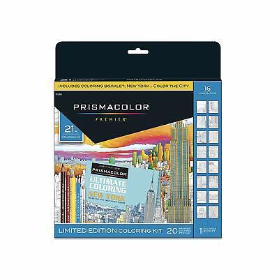 Prismacolor Premier Pencils Coloring Book Kit New York City, 21 Pieces