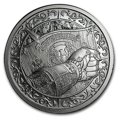 2 Oz Silver Round   Destiny Knight  The Shield   Sku 154400