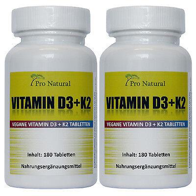 PN natürliches Vitamin K2 MK7 - 200µg + Vitamin D3 - 5.000 IE je 360 Tabletten