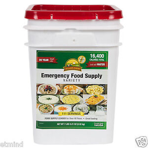 111 Servings Augason Farms Emergency Food Supply Variety Pail Storage