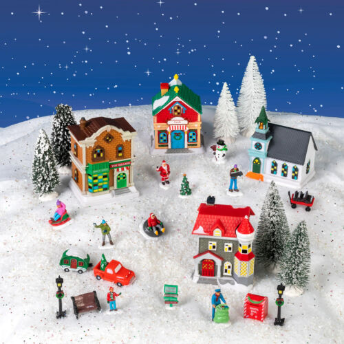 Cobblestone Corners Christmas Village New 2021 Complete 27 Piece Set Collectible