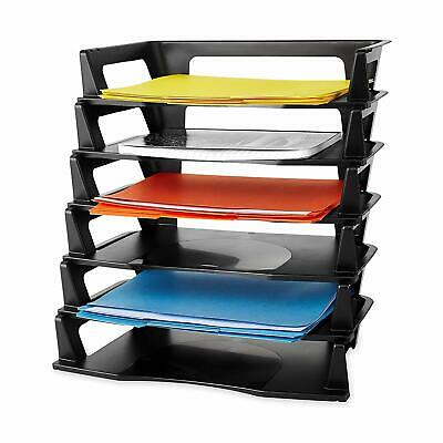 Stackable Letter Tray Desk Office Document File Holder Storage Desktop Organizer