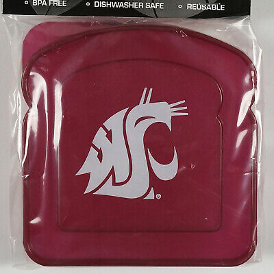 NCAA Washington State University Cougars Sandwich Container BPA Free Reusable](Washington State University Cougars)