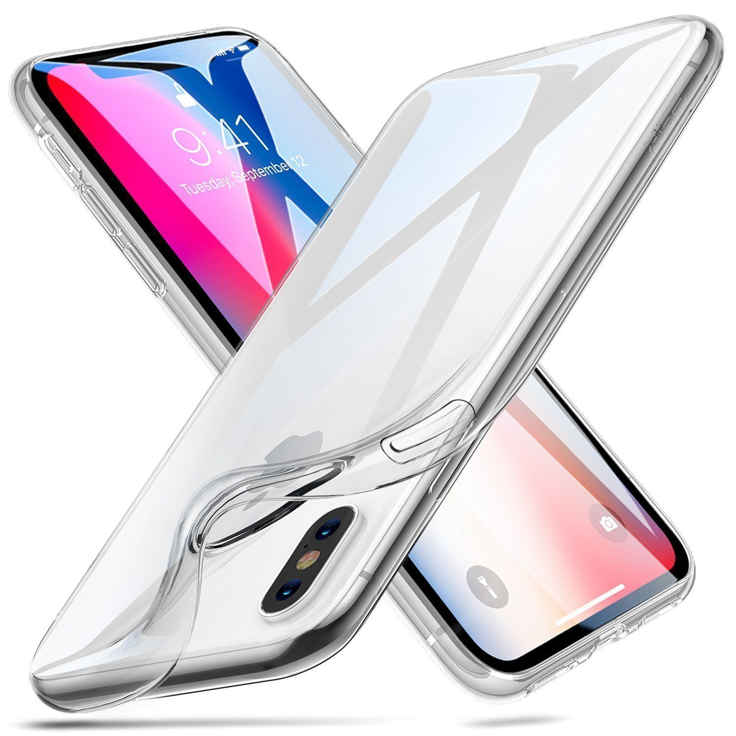 For iPhone XR Case Shock Proof Crystal Clear Soft Silicone Bumper Cover Slim