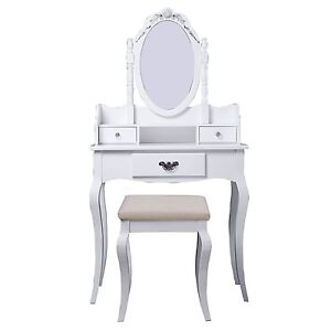 White Vintage Dressing Table —Free Shipping—