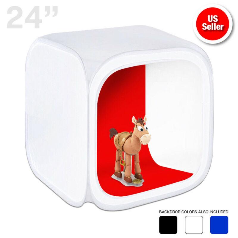 "24"" Photography Photo Studio Light Tent Backdrop Kit Cube 60cm Lighting In A Box"