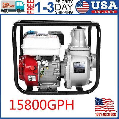 3in 6.5hp Gas Water Trash Pump Petrol High Pressure Garden Irrigation 15800gph