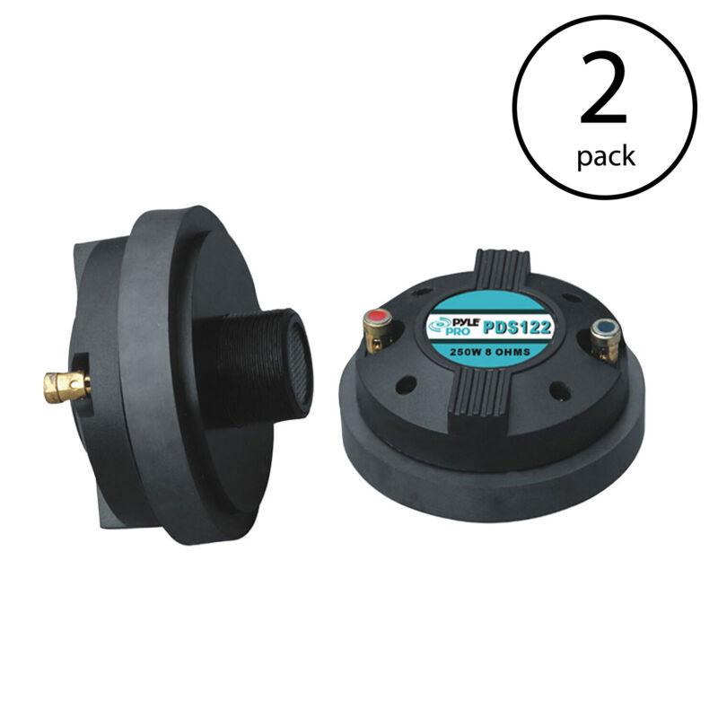 Pyle PDS122 1.5-Inch Tweeter Horn Driver 500 Watt Peak Power and 8 Ohm (2 Pack)
