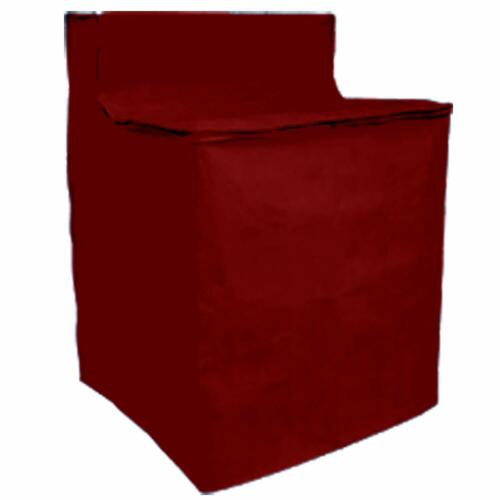 Washing Machine Cover  Zippered Appliance Cover Burgundy Keeps From Scratches