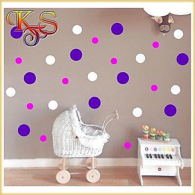 ♥♥Aufkleber Sticker Möbel Tür Wandtattoo  Punkt Punkte Dots  Ø 5  7,5  10 cm  ♥♥