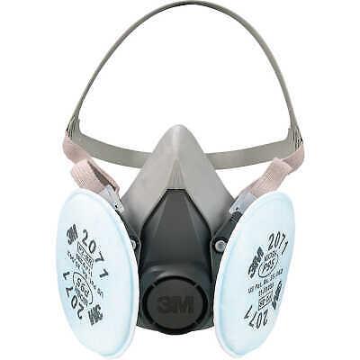 3M 6100 Half Facepiece Respirator W/ 2 Ea. 3M 2071 Filter Cartridge, Size: SMALL Business & Industrial