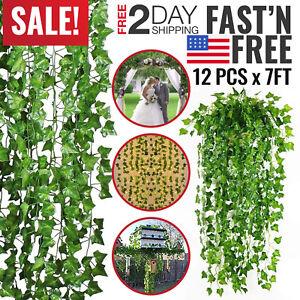 Artificial Hanging Plants Silk Ivy Vine Indoor Outdoor Fake Decor Faux Plastic