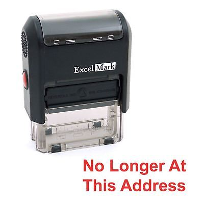 NO LONGER AT THIS ADDRESS - ExcelMark Self Inking Rubber Stamp A1539 - Red Ink](not at this address stamp)