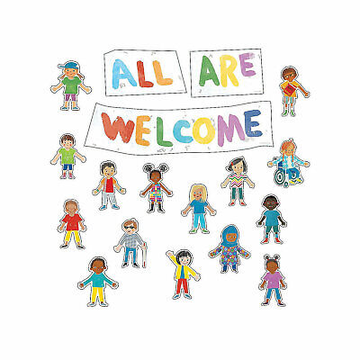 All Are Welcome Bulletin Board Set, Educational, Classroom Decorations,