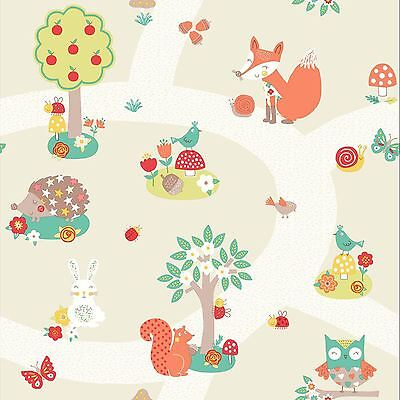 Forêt Amis Papier Peint-Neutre-ARTHOUSE 66720-Kids
