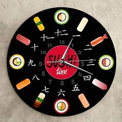 Wall Clock Sushi Time Modern Design Decoration Gift Interior Found JAPAN NEW