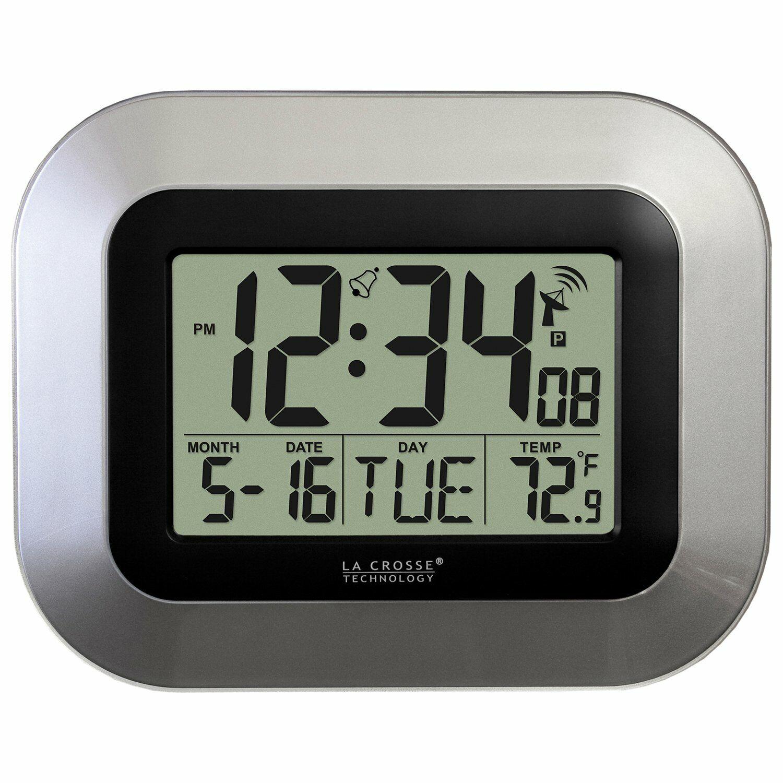 atomic digital wall clock temperature seasonal time