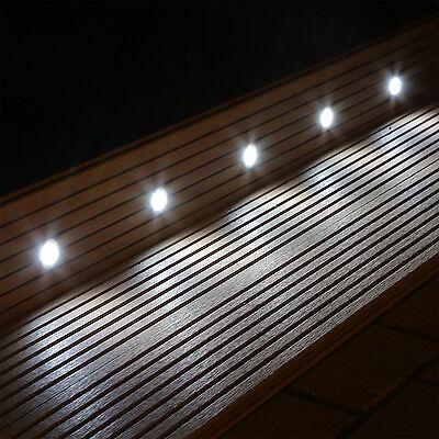 10 LED Bodeneinbaustrahler Set für Garten Terrasse Stufen Treppen innen außen Innere Boden